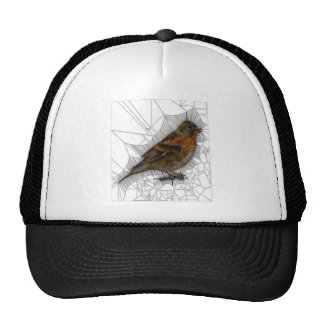 Bramble Finch Stained Glass Cap