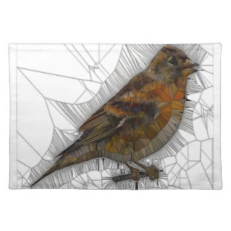 Bramble Finch Stained Glass Place Mats