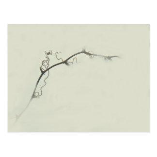 Bramble Tendrils in the Fog - Minimalism Postcard
