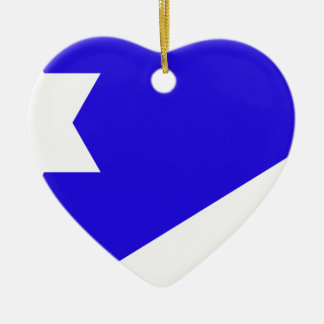 Branch_Davidian_flag Ceramic Heart Decoration