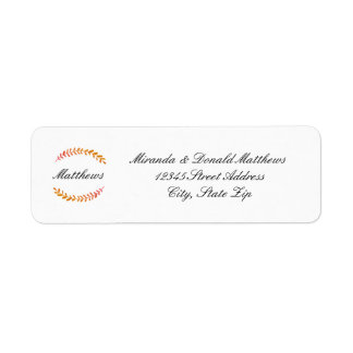 Branch Fall Wreath -Return Address Label