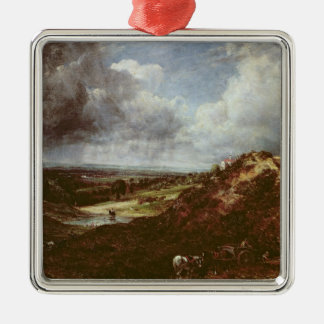 Branch Hill Pond, Hampstead Heath, 1828 Silver-Colored Square Decoration