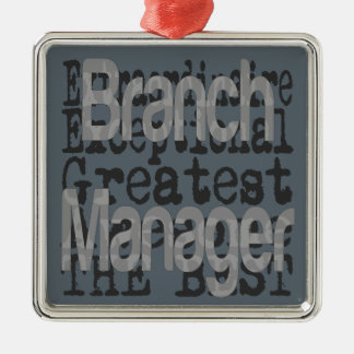 Branch Manager Extraordinaire Silver-Colored Square Decoration