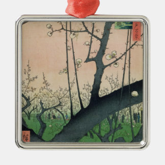 Branch of a Flowering Plum Tree Christmas Ornament