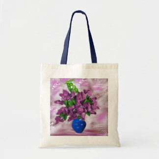 branch of lilacs tote bags