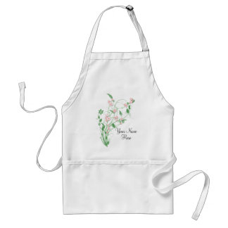 Branch of Pink Cherry Blossom Adult Apron
