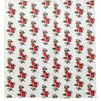 Branch of Pink Roses and Rosebuds Shower Curtain