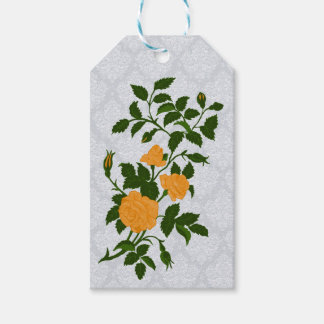Branch of Yellow Roses and Buds Gift Tags