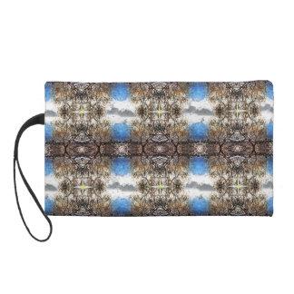Branch Tapestry Pattern Wristlet Purses