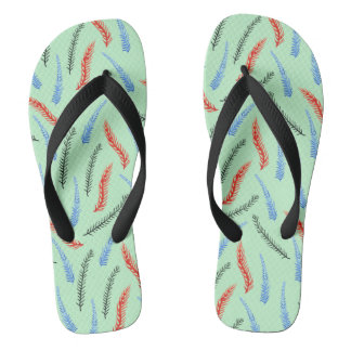 Branches Adult Wide Straps Flip Flops