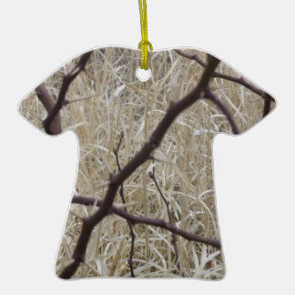 Branches and Dry Grass Ceramic T-Shirt Decoration