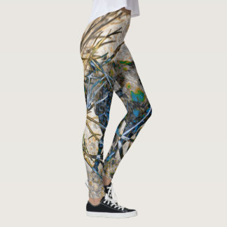 Branches and Horses Abstract Leggings