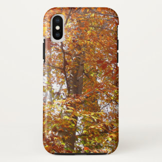 Branches of Orange Leaves Autumn Nature iPhone X Case