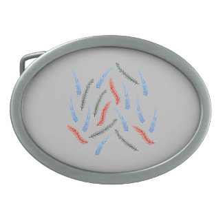 Branches Oval Belt Buckle