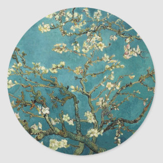 Branches with Almond Blossom by Vincent Van Gogh Classic Round Sticker