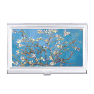 Branches with Almond Blossom Van Gogh painting art Business Card Holder