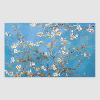 Branches with Almond Blossom Van Gogh painting Rectangular Sticker