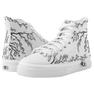 branches with birds and leaves on a lig high tops