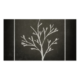 Branching Tree Sapling Chalk Drawing Pack Of Standard Business Cards