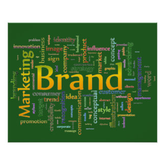 Brand and Marketing  Related Text Green Poster