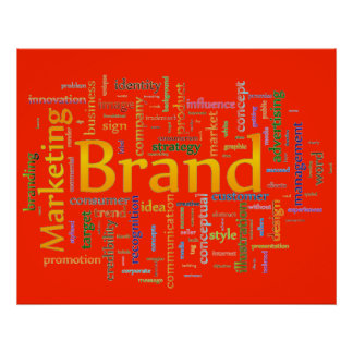 Brand and Marketing  Related Text Orange Poster