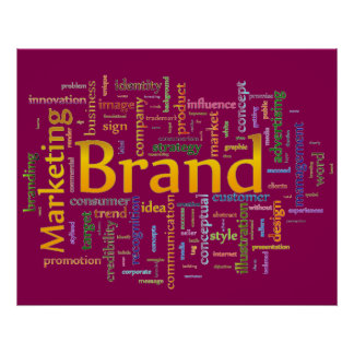Brand and Marketing  Related Text Purple Poster