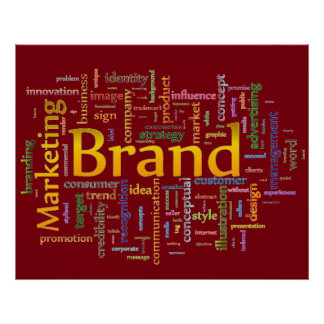 Brand and Marketing  Related Text Red Poster