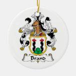 Brand Family Crest Ornament
