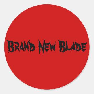 Brand New Blade Round Sticker