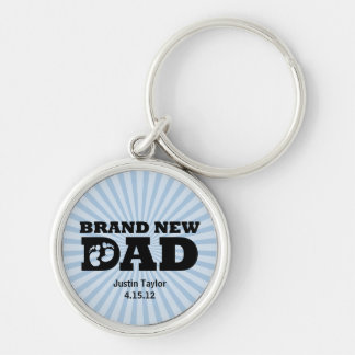 Brand New Dad Personalized Keychain