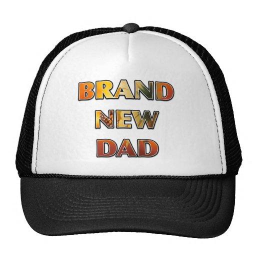 """""""BRAND NEW DAD"""" Sunflower Design Mesh Hats"""