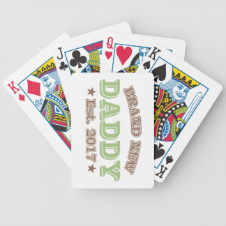 Brand New Daddy Est. 2017 (Green) Poker Deck
