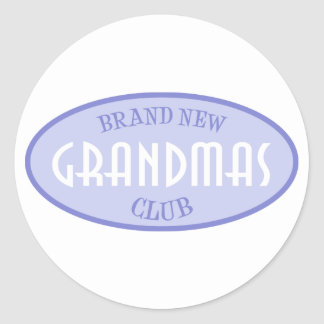 Brand New Grandmas Club (Purple) Round Sticker