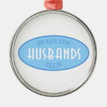 Brand New Husbands Club (Blue) Christmas Ornaments