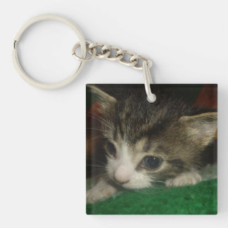 Brand New Single-Sided Square Acrylic Key Ring