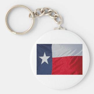 Brand New Texas Flag Basic Round Button Key Ring