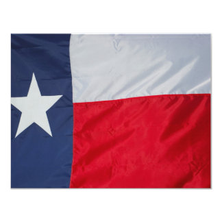Brand New Texas Flag 4.25x5.5 Paper Invitation Card