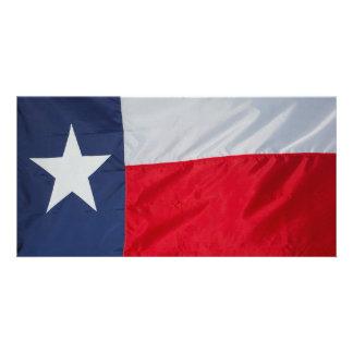 Brand New Texas Flag Customised Photo Card