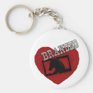 Branded Classic Button Keychain