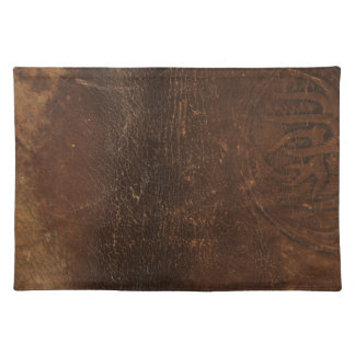 Branded Cowhide Faux Leather Placemat