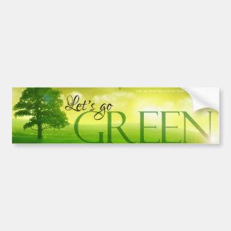 Branded Go Green Sticker Bumper Sticker