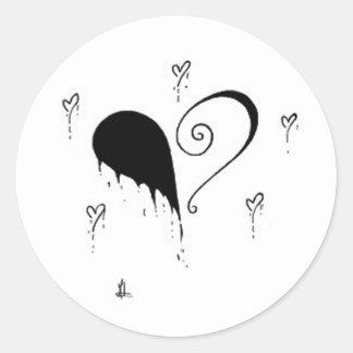 branded round sticker