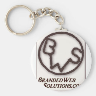 Branded Web Solutions (BWS) Logo Basic Round Button Key Ring