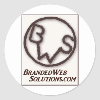 Branded Web Solutions (BWS) Logo Round Sticker