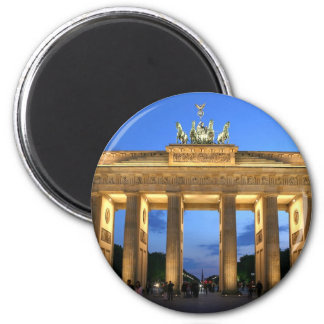 brandenburg evening 6 cm round magnet