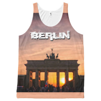 Brandenburg Gate 001.F.05.2, sunset, BERLIN All-Over Print Tank Top
