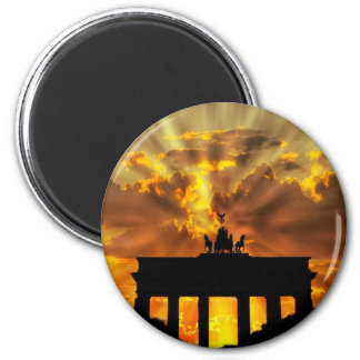 Brandenburg Gate 6 Cm Round Magnet