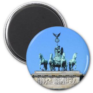 Brandenburg Gate, Berlin 6 Cm Round Magnet