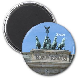 Brandenburg Gate Berlin 6 Cm Round Magnet