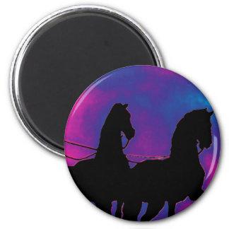 Brandenburg Gate, Berlin, Germany - Horse Close Up 6 Cm Round Magnet